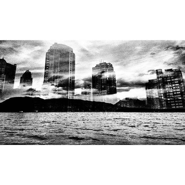 Re-inventing the landscape.  #vancouverinblackandwhite #doubleexposure #vancity#moodygram #blackwhitephotography #bnw#monochrome #bnw_city#bnw_creatives #noir_vision#simply_noir_blanc #instablackandwhite#insta_bw #streetphotography_bnw