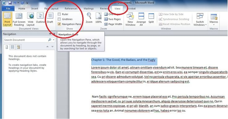 How to Make Chapters for a Novel Manuscript in Microsoft Word 2010 | found via #NaNoWriMo forums. The place is a goldmine!