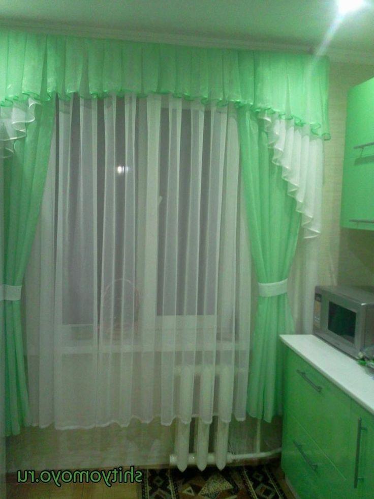 Шторы на кухню своими руками с балконной дверью фото