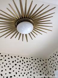 diy sunburst light fixture