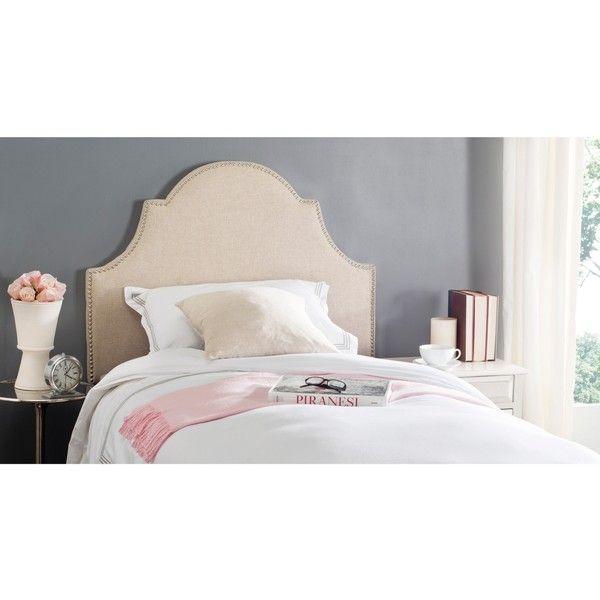 Safavieh Hallmar Hemp Headboard ($184) ❤ liked on Polyvore featuring home, furniture, beds, beige headboard, ivory furniture, antique white bed, cream furniture and beige furniture