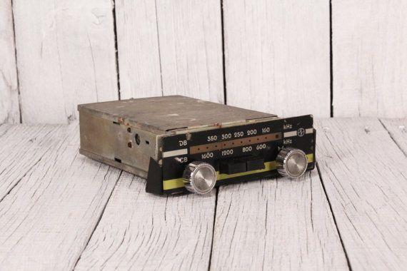 Vintage car radio, 2 band car radio, Oldtimer car radio, Cult Moskvich radio, Old car radio, Automobile car radio, Retro car radio