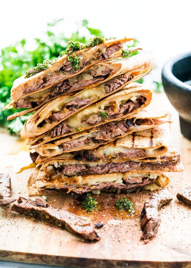 These Grilled Chimichurri Steak Quesadillas are just in time for your Memorial Day weekend party! This is how you make perfect quesadillas!
