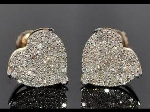 Diamond Earrings - Diamond Earrings With Screw Backs