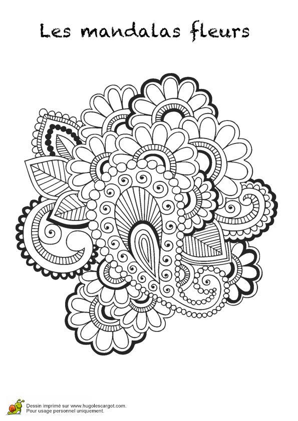 1000 id es sur le th me fleur mandala sur pinterest - Mandala fleur ...