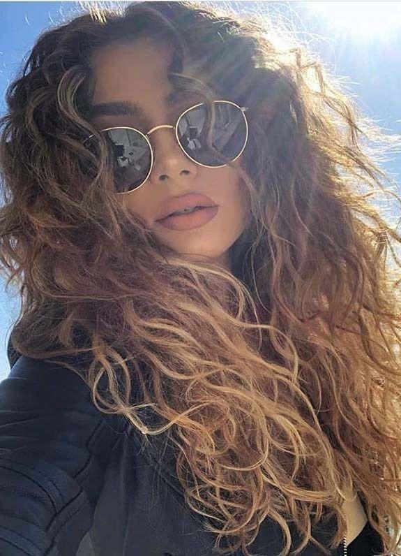Amazing voluminous long curly hairstyles & …