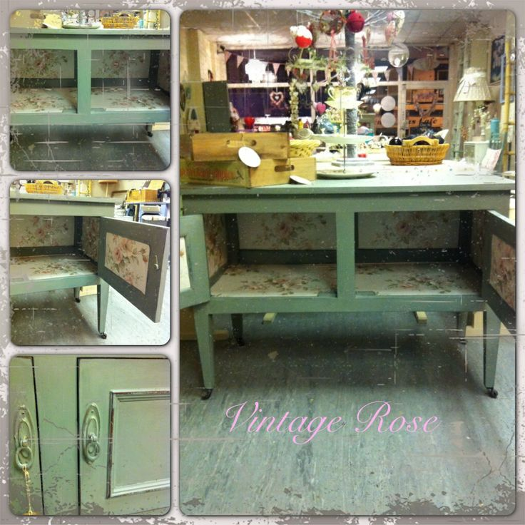 Sideboard painted with autentico troubled water