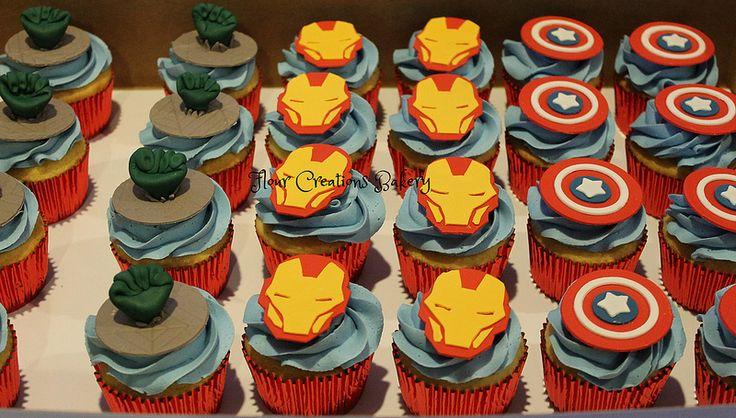 how to make marvel superhero cupcakes