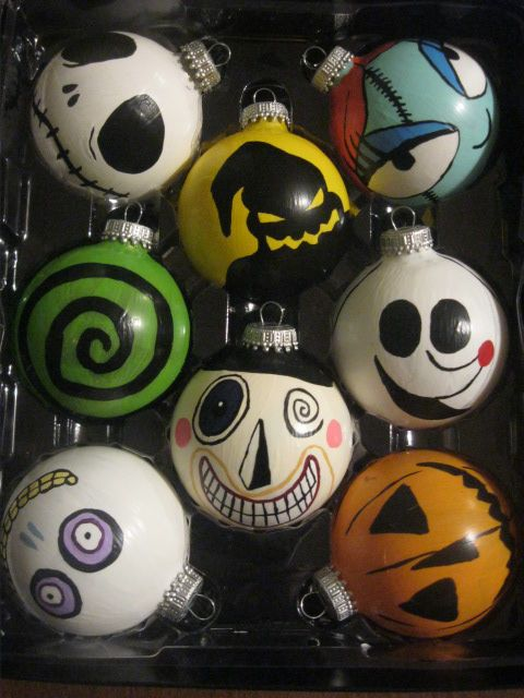 The Nightmare Before Christmas Ornaments by HolyShiiitItsAsh.deviantart.com on @deviantART