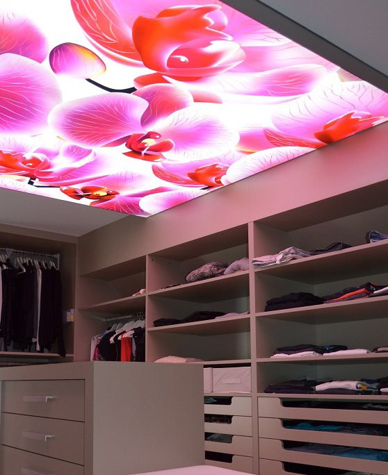 1000 id es sur le th me toile tendue plafond sur pinterest for Eclairage led interieur plafond