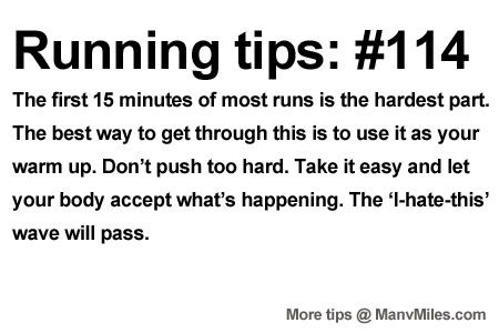 Running Tips: Don't fight it from the start.    Starting running or training for a marathon? Tips and help:Get more running tips and t...