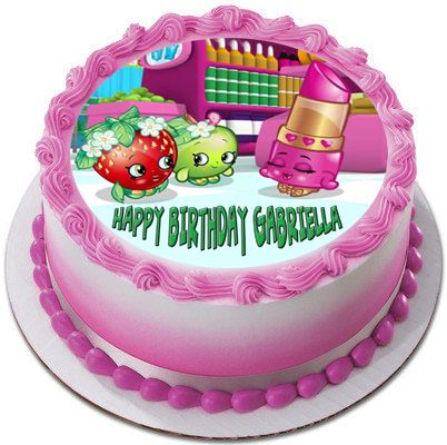 SHOPKINS 1 Edible Birthday Cake Topper