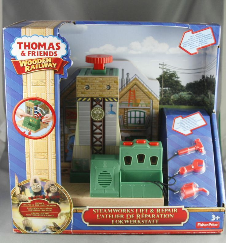 Thomas and Friends Wooden Railway Steam Works Lift and Repair Set | eBay
