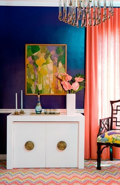 Never thought I'd like these colors together, but they're beautiful!: Decor, Interior, Idea, Blue Wall, Wall Color, Colors, Living Room