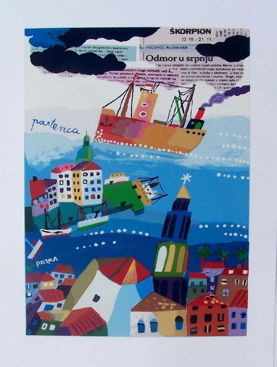Croatia Art Vojo Radoicic - Split, Odmor u srpnju (A Rest in July)