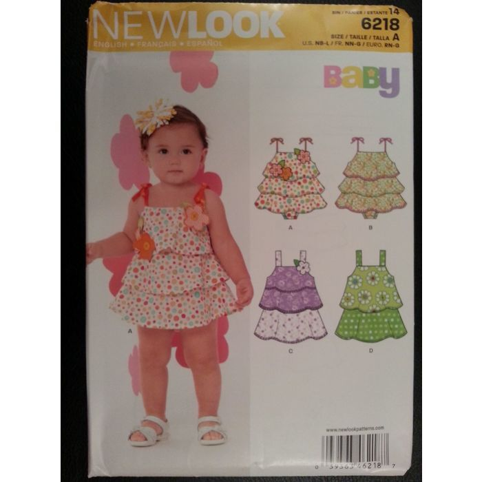 New Look 6218 Baby Sun Rompers sewing pattern sizes Newborn - Large Listing in the Childrens,Sewing,Patterns,Sewing,Crafts, Handmade & Sewing Category on eBid Canada | 151886698
