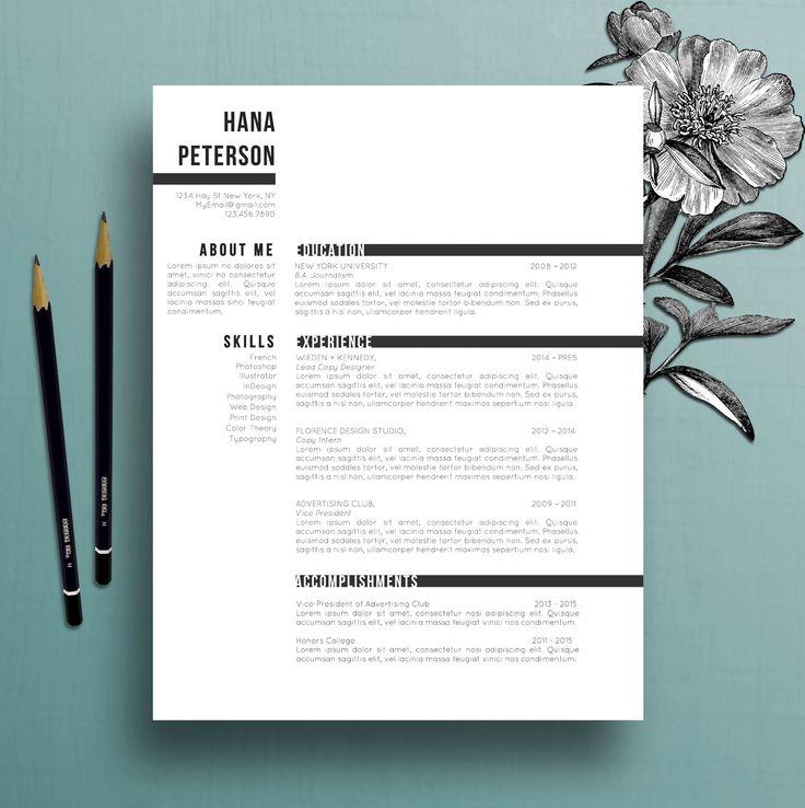 Modèle de CV professionnel modèle de lettre par TheCreativeResume