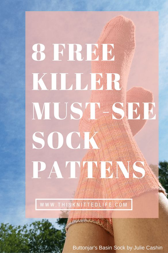 Eight free and totally killer must see sock knitting patterns curated by This Knitted Life