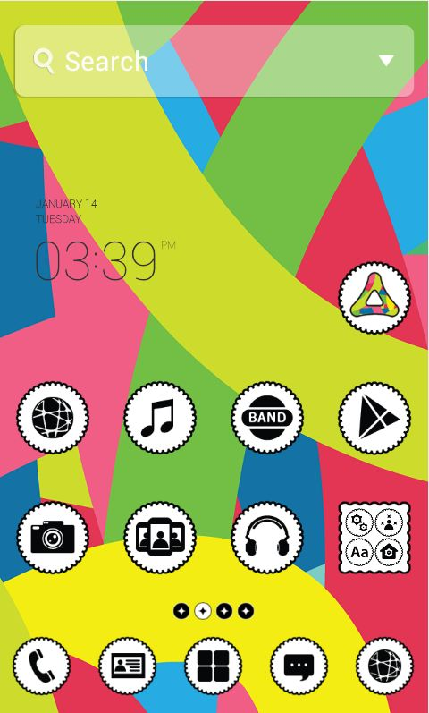 """[New Theme] """"Color Harmony by Dodol Launcher"""" Check out this colorful theme that will lighten up your background screen!"""