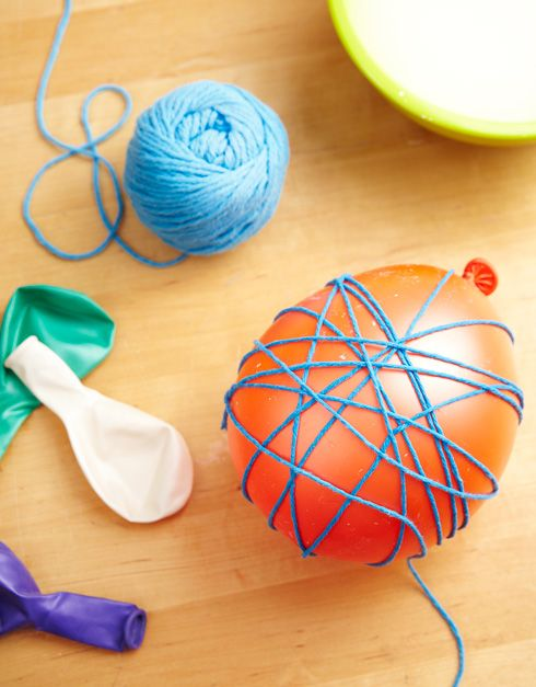 Make festive yarn balls with our simple instructions to add some flash to parties or your home décor. For more crafty ideas, visit P&G everyday today!