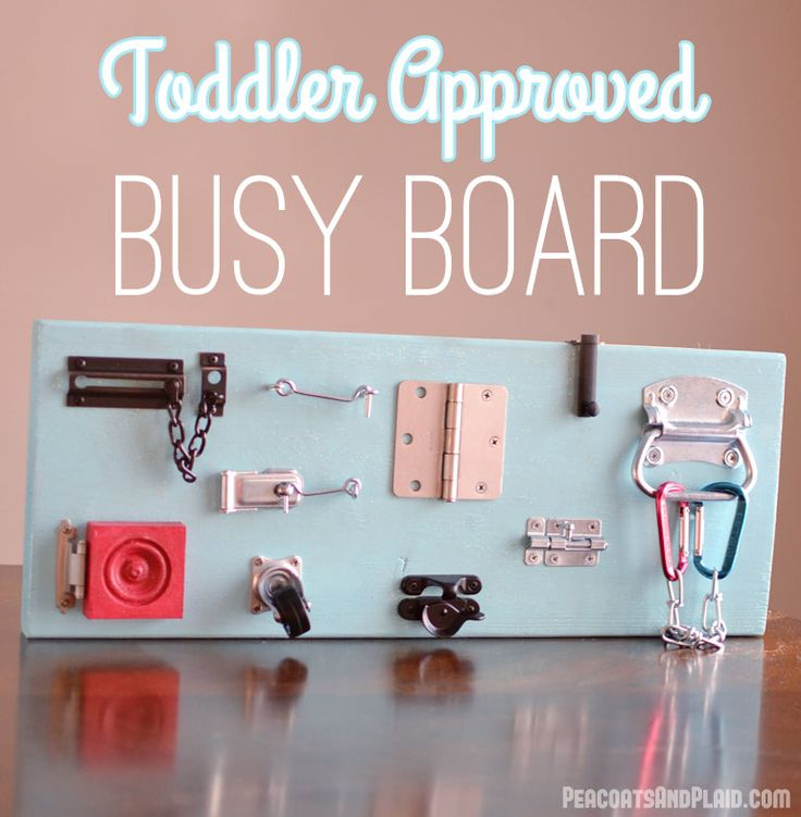DIY toddler busy latch board tutorial. - Peacoats and Plaid