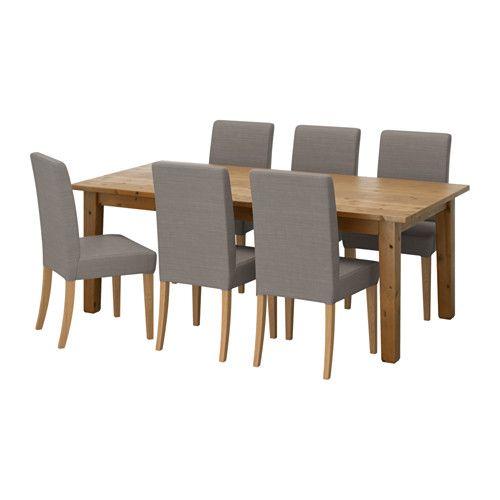 STORNÄS / HENRIKSDAL Stół i 6 krzeseł IKEA