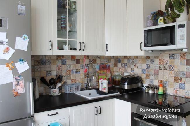 Дизайн белой кухни 5,9 кв.м. Икеа в Москве (5 фото + цена)
