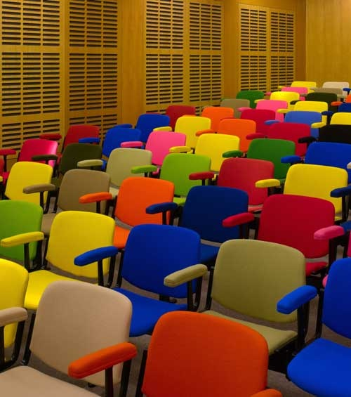 Prototype Conference Room (2002/09) for the Zilkha Auditorium by Liam Gillick. For more info visit www.whitechapelgallery.org/exhibitions/social-sculpture