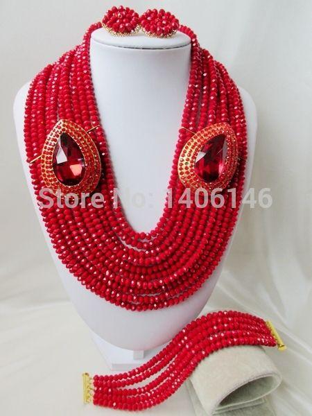 Хиты 2014 продажа бросился бесплатная доставка романтический женщины ювелирные изделия устанавливает великолепный кристалл нигерии свадьба африканские бусины комплект ювелирных изделий Ab2417