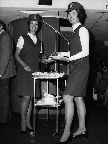 Qantas uniforms in 1971