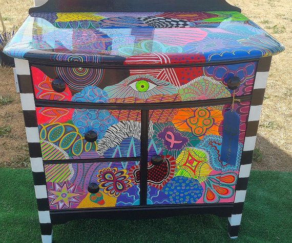 Funky Painted Furniture: Cabinet of Chaos                                                                                                                                                                                 More