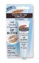 Palmer's Cocoa Butter Formula Lip Butter, with Vitamin E, Dark Chocolate & Peppermint by Palmer's. $5.09. Softens & soothes lips. Adds a subtle gloss. Soften and soothe your dry, chapped lips with this unique, dark chocolate peppermint lip butter. A special formulation of Palmer's 100% pure cocoa butter, vitamin E and petrolatum provides ultra-moisturization and a hint of gloss with the delicious scent of dark chocolate and peppermint. This one-of-a-kind lip butter...