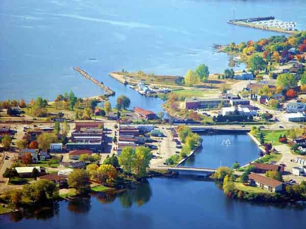 Blind River is a town situated on the North Channel of Lake Huron in the Algoma District, Ontario, Canada. The town, named after the nearby Blind River, celebrated its centennial in 2006.