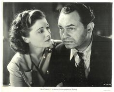 Ruth Hussey and Edward G Robinson in 1939's Blackmail Film Noir
