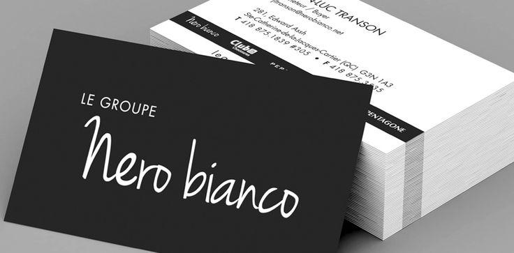 Le Groupe Nero bianco - Cartes d'affaires