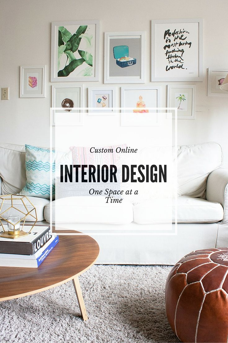 Affordable, custom online interior design services on a room by room basis.  We provide