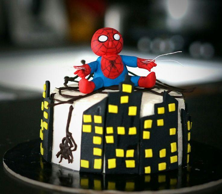 Baby spiderman cake topper