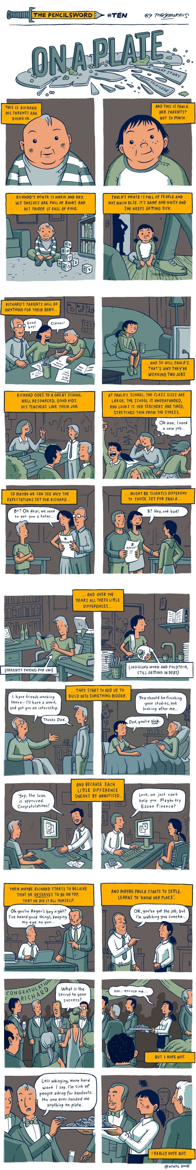 """""""On A Plate"""" - A Comic That Gives A Simple And Perfect Explanation Of Privilege…"""