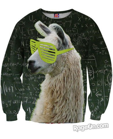Llamathematics Sweatshirt - Rage On! - The World's Largest All-Over Print Online Retailer