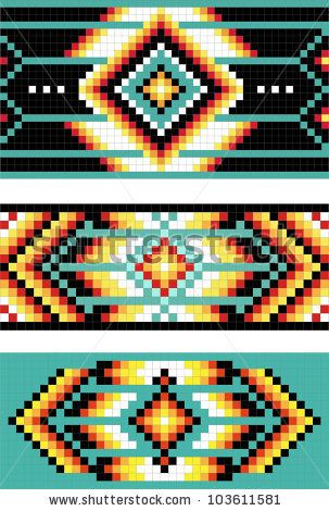 Traditional (native) American Indian pattern, vector by marina_ua, via Shutterstock