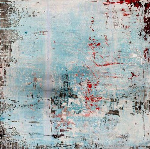 """Amber Maida, """"Echo"""", Acrylic and mixed media on masonite"""
