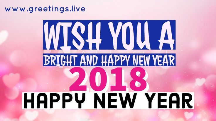 wish you happy new year 2018 greeting greetingslive pinterest