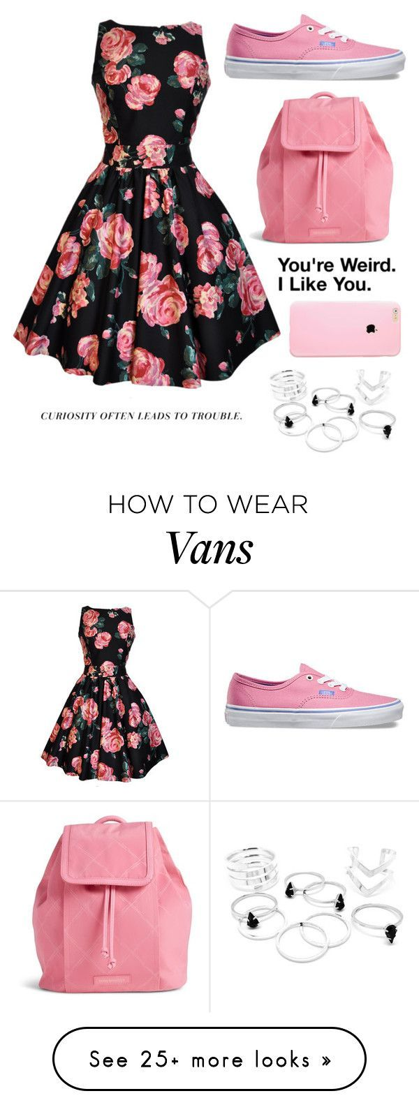 """""""Untitled #505"""" by tokyoghoul1 on Polyvore featuring Vans, Vera Bradley, women's clothing, women's fashion, women, female, woman, misses and juniors"""