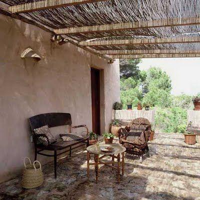 Techo carrizo terraza ideas terraza pinterest for Terrazas decoracion rusticas
