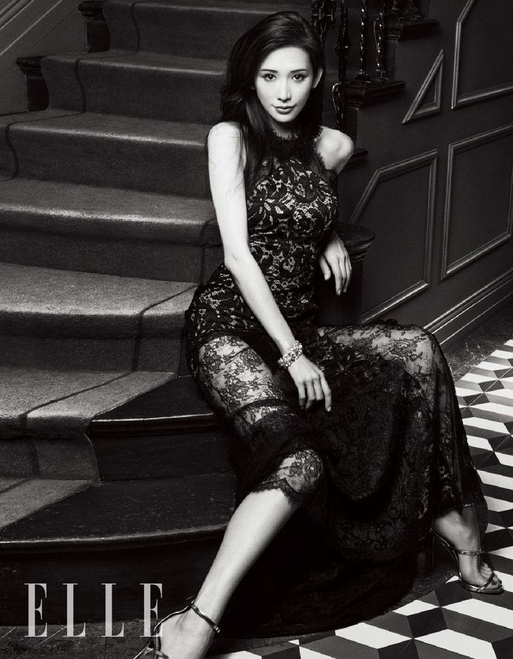 modelsbornhotmngmt:     Lin Chi Ling elegant goddess Fan show