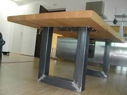 Risultati immagini per tavolo legno e acciaio