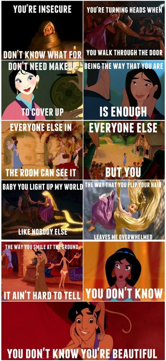 you're beautiful ) Disney funny, Disney quotes, Disney