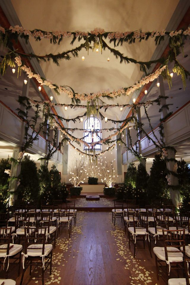 Magical Forest Inspired Indoor Wedding