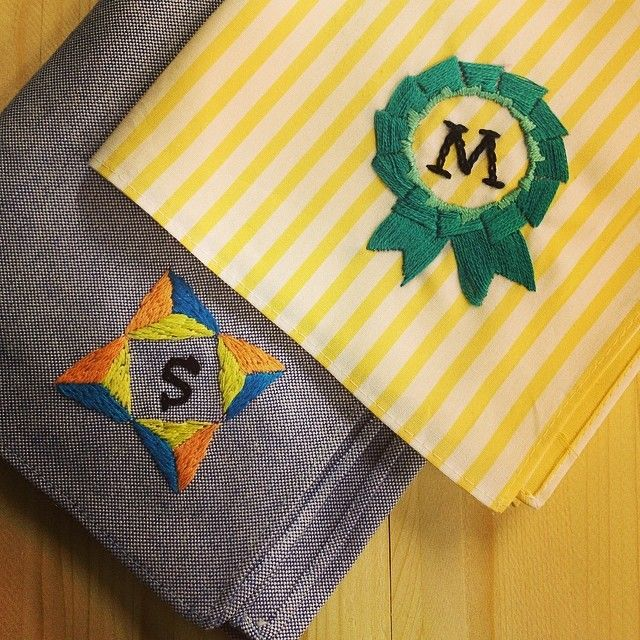 "@giiton's photo: ""EMBROIDERY KIT FOR HANDKERCHIEF* ハンカチの刺繍キットも販売中!"""