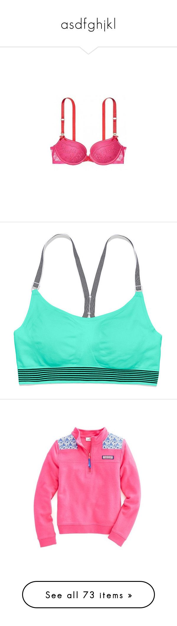 """""""asdfghjkl"""" by livelovebreathelife ❤ liked on Polyvore featuring victoria's secret, activewear, sports bras, tops, workout, underwear, bra, shore club barcode, green sports bra and seamless sports bra"""